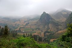 Moutain landscape in Vietnam. Deforest is serious problem in Vietnam Royalty Free Stock Photography