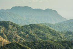 Moutain. Layers of moutain and thin misty, Thailand Stock Photography