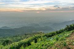Moutain. Layers of moutain and thin misty, Thailand Stock Images