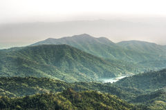Moutain. Layers of moutain and thin misty, Thailand Royalty Free Stock Photography