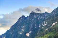 Moutain peaks cloud and fog Royalty Free Stock Image