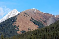 Moutain peaks in Rockies Stock Image