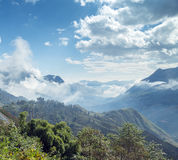 Moutain, province de Lao Cai Vietnam du nord images stock