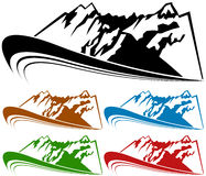 Moutain Range Set Royalty Free Stock Images