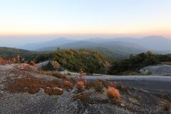 Moutain in sunset. Landscape view royalty free stock photography