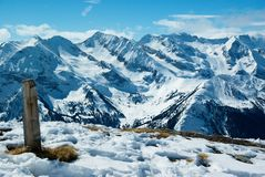 Moutain winter panorama Royalty Free Stock Images