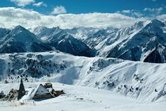 Moutain winter panorama Royalty Free Stock Photo