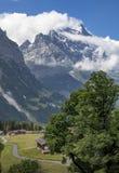 Moutainbiking w Grindelwald, Switzerland zdjęcie stock