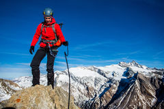 Moutaineering challenge Royalty Free Stock Photos