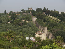 Mountains  of  Florence. Moutaines and building of  Florence Royalty Free Stock Photo