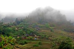 moutainous sapa村庄 图库摄影