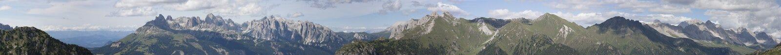 Moutains de Dolomiti Photos stock