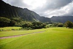 Moutains en Oahu, Hawaii imagenes de archivo