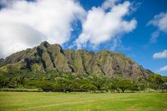 Moutains en Oahu, Hawaii fotografía de archivo libre de regalías