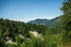 Moutains et landsccape verts de ciel Photo libre de droits