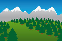 Moutains and Forest Royalty Free Stock Photography