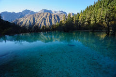 Moutains and Lakes in Jiuzhaigou Valley Royalty Free Stock Images