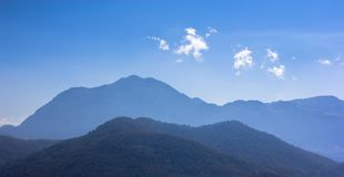 Moutains in Laos. Misty Moutains in Laos from Mekong river royalty free stock photo