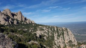 The Moutains of Montserrat Royalty Free Stock Image