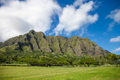 Moutains on Oahu, Hawaii Royalty Free Stock Photography