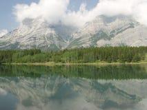 moutains skaliści kanadyjskich Zdjęcia Stock