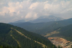 Moutains in summer, Ukraine. Famous Bukovel  in summer, Carpathian mountains, Ukraine Royalty Free Stock Photo