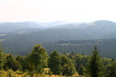Moutains in summer, Ukraine. Famous Bukovel  in summer, Carpathian mountains, Ukraine Royalty Free Stock Images