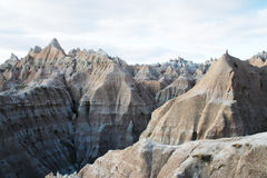 Moutains view of Beautiful Cliff. Perspective view of badlands national park stock image
