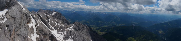 Moutan-top view at Dachstein Glacier Royalty Free Stock Photo