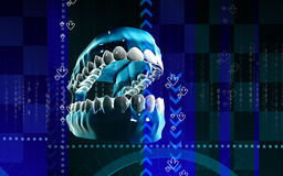 Mouth. Digital illustration of  Mouth in colour background Stock Images