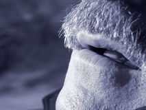 Mouth. A smoker mouth royalty free stock photography