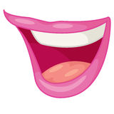 Mouth. Illustration on white background Royalty Free Stock Photo