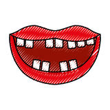 Mouth with bad teeth. Vector illustration design Royalty Free Stock Photography