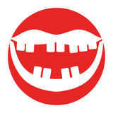 Mouth with bad teeth. Vector illustration design Stock Image