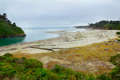 Mouth of Big river in Mendocino county, California, USA. Stock Images