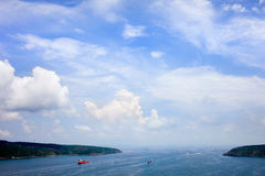 Mouth of the Bosphorus Strait Stock Image