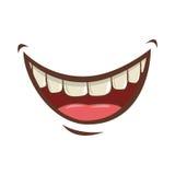 Mouth cartoon icon Royalty Free Stock Photo