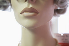 Mouth And Chin Of Mannequin Royalty Free Stock Photo