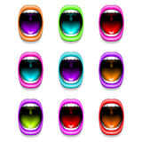 Mouth color open vector icon lips Royalty Free Stock Photo