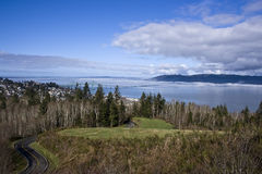 Mouth of Columbia River. Astoria, Oregon Royalty Free Stock Photo