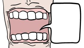 Mouth comic Royalty Free Stock Photography
