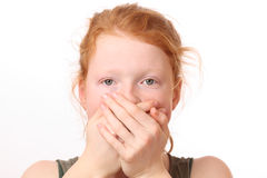 Mouth covered Royalty Free Stock Images