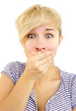 Mouth covering Stock Photos