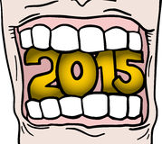 2015 mouth Royalty Free Stock Photo