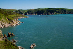 The mouth of the Dart Estuary in Devon. Photo taken from the South-West coastal path.  T Royalty Free Stock Photography