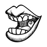 Mouth design Royalty Free Stock Photography