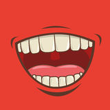 Mouth design Stock Photography