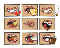 Mouth eats Stock Images