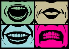 Mouth expressions Royalty Free Stock Photo