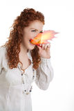 Mouth Fire! Royalty Free Stock Image